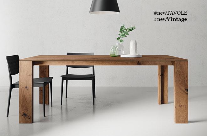 Fabricante de muebles modernos de comedor en chapas naturales.